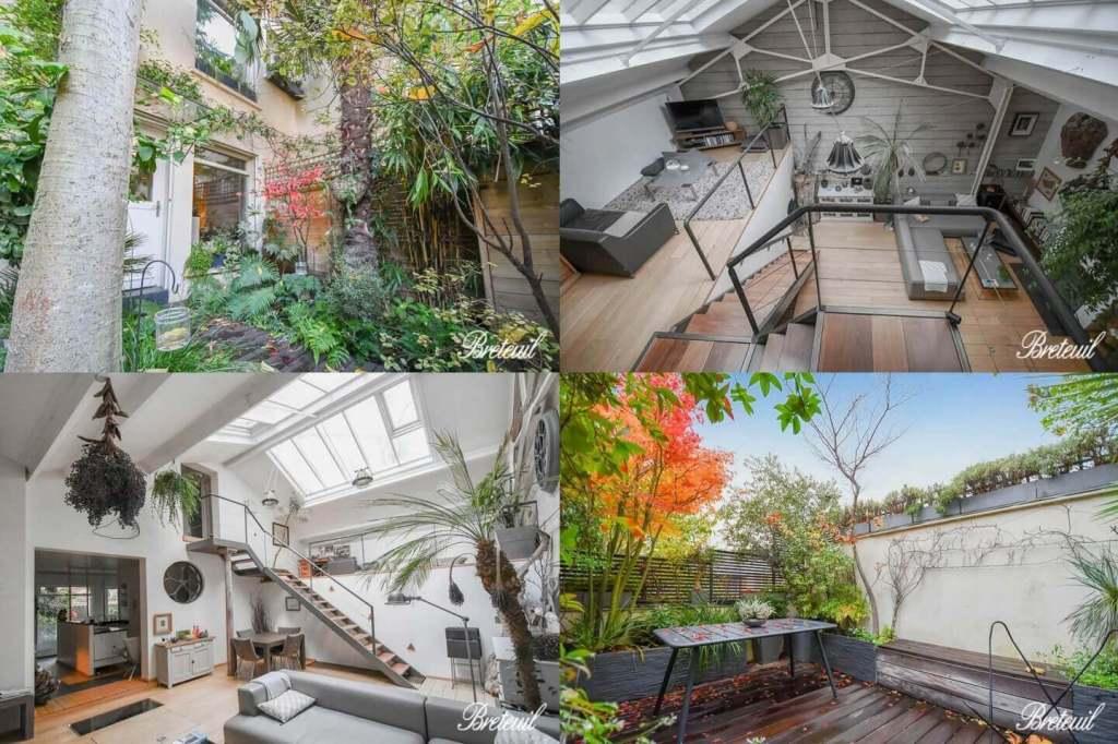 Maison familiale avec jardin à Paris 18